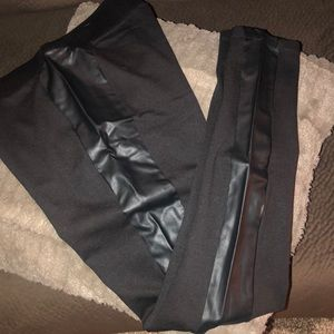 Faux Leather detailed leggings